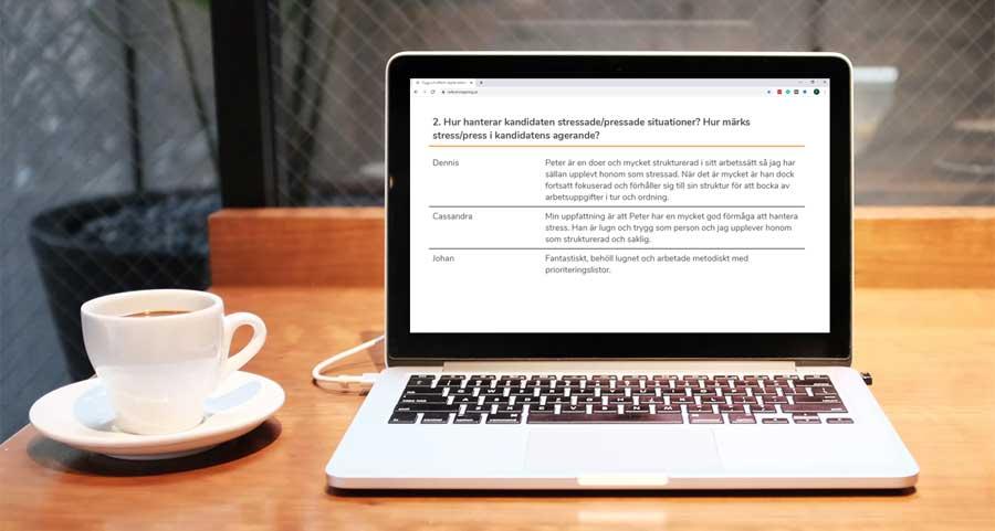 Digital referenstagning med Referenstagning.se
